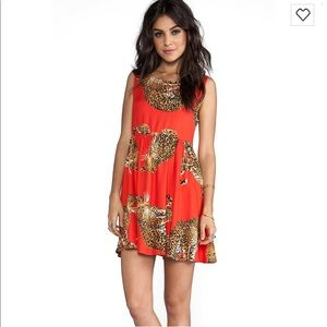 MinkPink King of the Jungle Baby Doll Dress